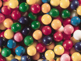 Pile of Multicolored and Colorful Pieces of Bubblegum Candy Photographic Print