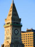Historic Clocktower in Grandiose City of Boston, Massachusetts Photographic Print