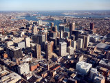 Aerial View of Buildings and High Rises in Baltimore, Maryland Photographic Print