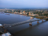 Aerial Shot of Flowing River in Baton Rouge, Louisiana Photographic Print