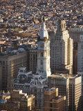 Aerial View of Historical Philadelphia City Hall in Philadelphia, Pennsylvania Photographic Print