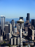 Buildings and High Rises with Historic Space Needle in Seattle, Washington Photographic Print