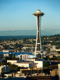 Exterior of Historic Space Needle in Seattle, Washington Photographic Print
