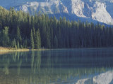 Reflection of Trees and Mountains in a Lake Photographic Print