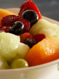 Close-Up of a Variety of Fresh Fruits in Salad Photographic Print