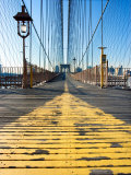 Historical Landmark of Brooklyn Bridge in New York City, New York Photographic Print