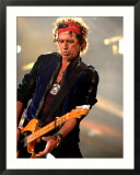 Keith Richards Performing on Stage at the Rolling Stones in Concert at Twickenham, August 2006 Gerahmter Fotografie-Druck