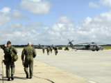 Aircrews Prepare to Depart to Provide Search and Rescue Support, September 12, 2008 Lmina fotogrfica por Stocktrek Images