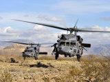 Stocktrek Images - Two HH-60 Pavehawk Helicopters Preparing to Land - Fotografik Baskı