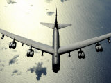 B-52 Stratofortress in Flight over the Pacific Ocean Photographic Print by Stocktrek Images