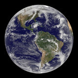 Full Earth Showing Hurricane Paloma Photographic Print by  Stocktrek Images