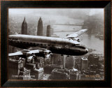 New York, New York, Flying Over Manhattan, 1946 Print