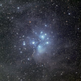 Pleiades Surrounded by Dust and Nebulosity Photographic Print by  Stocktrek Images