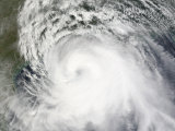 Hurricane Ike, from International Space Station Photographic Print by  Stocktrek Images
