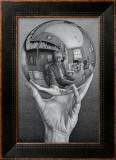 Hand with Globe Print by M. C. Escher