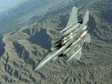 U.S. Air Force F-15E Strike Eagle on a Combat Patrol over Afghanistan Impressão fotográfica por Stocktrek Images