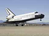Space Shuttle Endeavour&#39;s Main Landing Gear Touches Down on the Runway Photographic Print by Stocktrek Images 