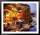 Mediterranean Port Print by Michael O'Toole