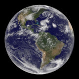 Earth and Four Storm Systems Photographic Print by  Stocktrek Images