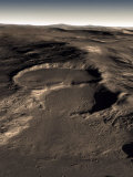 Three Craters in the Eastern Hellas Region of Mars Photographic Print by  Stocktrek Images