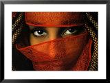 Veiled Tunisian Woman Print by Matthias Stolt