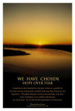 Obama: Hope Over Fear Poster by Scott Cushing