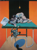 Due Figure con Una Schimmia Prints by Francis Bacon