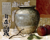 Chinese Ceramic with Apples Affiche par Pascal Lionnet