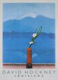 Mont Fuji et fleurs Reproductions pour les collectionneurs par David Hockney
