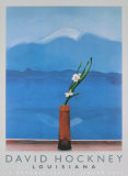 Mount Fuji and Flowers Collectable Print by David Hockney