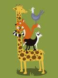 Giraffe Print by Steve Maingot