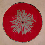 Flower on Red Circle Poster by Anna Buschulte
