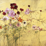 Ranunculus, Peonies and Red Tulips Kunst von Claire Basler