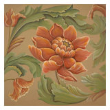 Baroque Flower I Print by Elliot Parker