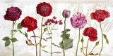 Le Jardin aux Fleurs Rouge Prints by Valerie Roy