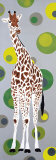 Girafe aux Bulles Verte Posters by Mosko 