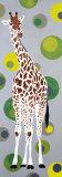 Girafe aux Bulles Verte Posters by  Mosko