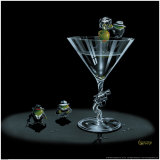 Gangster Martini Poster por Michael Godard