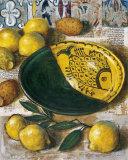 Ceramique aux Citrons Print by Pascal Lionnet