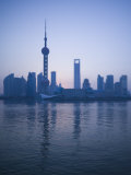 Pudong Skyline and Oriental Pearl Tower, Pudong District, Shanghai, China Photographic Print by Walter Bibikow