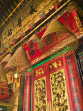 Large Incense Coils, Man Mo Temple, Hollywood Road, Central, Hong Kong, China Photographic Print by Walter Bibikow
