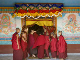 Monks at Tibetan Buddhist Monastery, Kathmandu, Nepal Photographic Print by Demetrio Carrasco