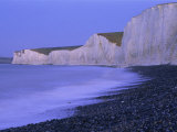 Beach at Seven Sisters and Beachy Head, East Sussex, England Photographic Print by Steve Vidler