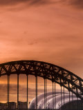 Newcastle and Gateshead, Tyne Bridge and the Sage, Tyne and Wear, England, UK Photographic Print by Alan Copson