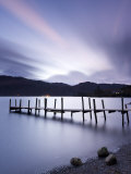 Brandelhow Bay Jetty at Dawn, Derwentwater, Lake District National Park, Cumbria, England, Uk Photographic Print by Gavin Hellier