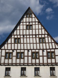 Half Timbered Building, Ediger-Eller, Mosel River Valley, Rhineland-Palatinate, Germany Photographic Print by Walter Bibikow