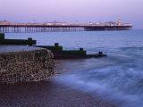 Palace Pier, Brighton, East Sussex, England, UK Fotografisk tryk af Jon Arnold