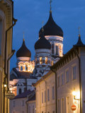 Alexander Nevsky Church at Dusk, Tallinn, Estonia Photographic Print by Doug Pearson
