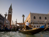 Gondolas and St. Mark's Campanile, Venice, Italy Photographic Print by Doug Pearson