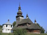 St. Nicholas Wooden Church, Svaliava, Zakarpattia Oblast, Transcarpathia, Ukraine Fotografie-Druck von Ivan Vdovin